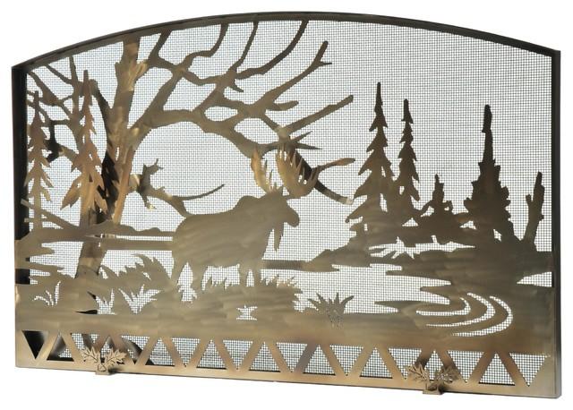 "61""x38"" Moose Creek Fireplace Screen"