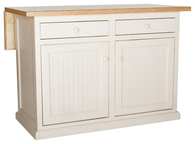 Eagle Furniture Coastal 51 Kitchen Island, Soft White.