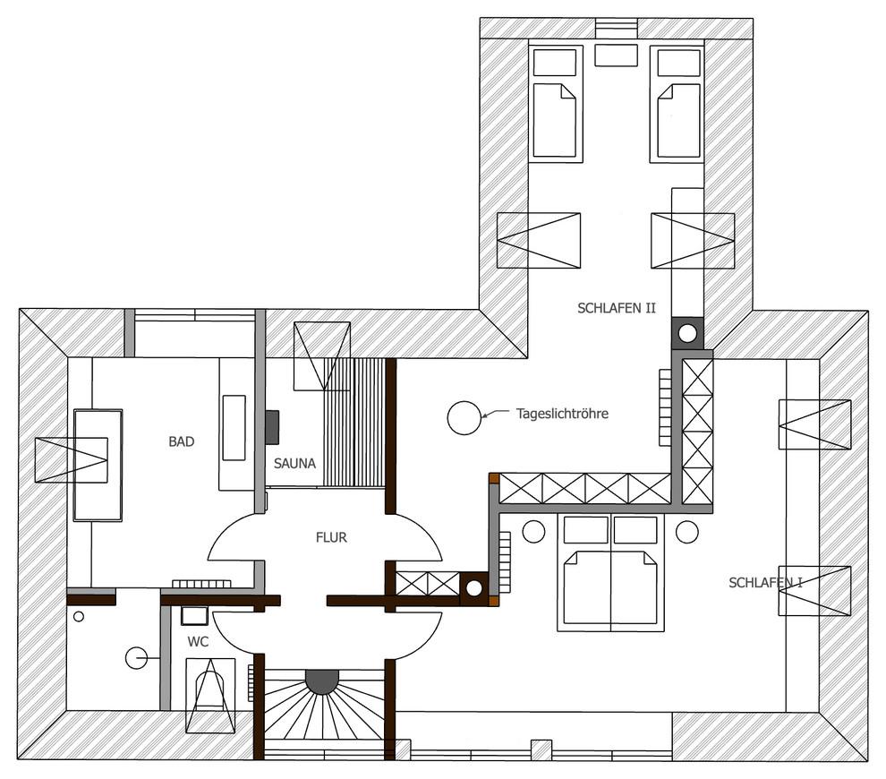 Umbau einer Immobilie aus 1973 Planung OG