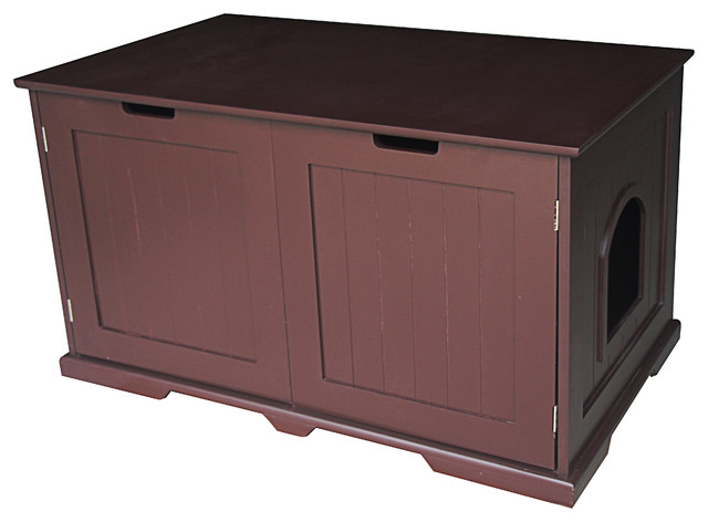Kitty Litter Box And Accent Table Bench Modern Cat Furniture By World Modern Design