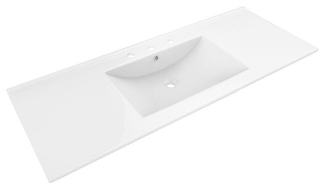 "48""x18.5"" Ceramic Top, White Color For 8""o.c. Faucet."