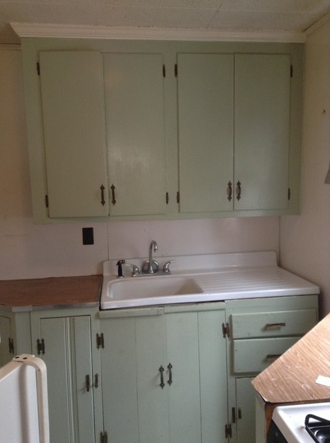 Relatively New house with vintage sink with drain board BJ84