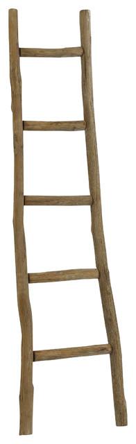 Dora 5&x27; Decorative Ladder, Walnut Finish.