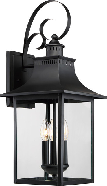 Chancellor Outdoor Lantern, Mystic Black, Extra Large.