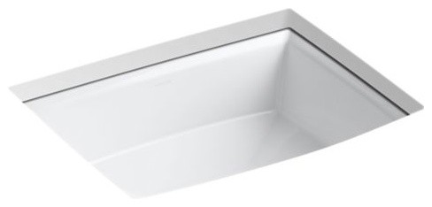Kohler Archer Under-Mount Bathroom Sink, White