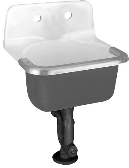 American Standard 7692.008.020 Lakewell Enameled Cast Iron Service Sink, White