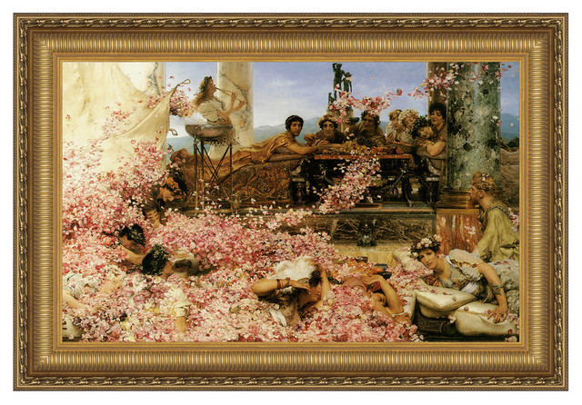 """Roses of Heliogabalus 1888"" Stretched Canvas Replica, 48""x32"""