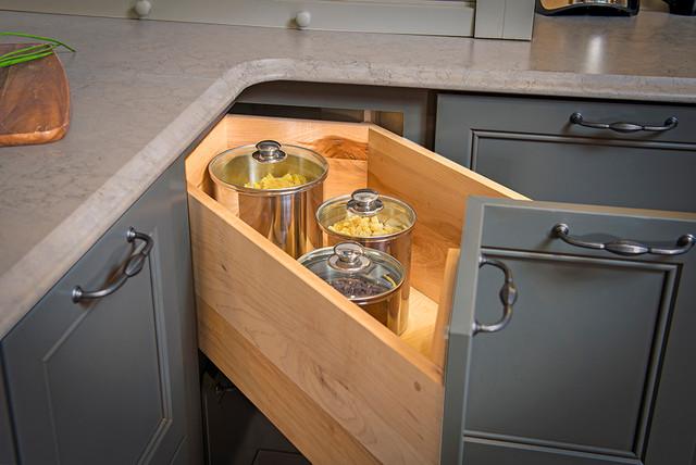 2 Drawer Corner Base Cabinet - Kitchen Cabinetry ...