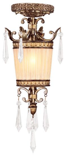 La Bella 1-Light Mini Pendant, Vintage Gold Leaf.