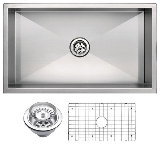"Kitchen Sink 19 X 33: 33"" X 19"" Single Basin Undermount Stainless Steel Kitchen"