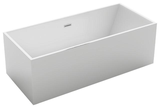 Kokss Burano Freestanding Modern Seamless Acrylic Bathtub.