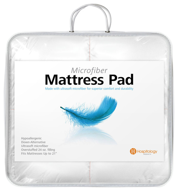 hospitology heavenly microfiber down alternative mattress pad full xl