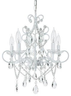 White chandeliers up to 70 off free shipping on select items amalfi decor theresa 5 light wrought iron crystal chandelier white chandeliers mozeypictures Gallery