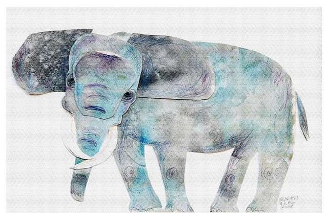 area rugs from dianoche by marley ungaro, elephant - contemporary