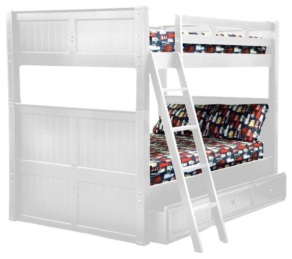 Foster Queen Size Bunk Beds With Twin XL Storage Trundle White