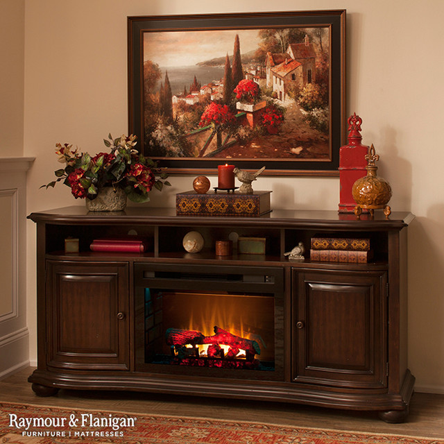 Henderson TV Console w/ Electric Fireplace - Living Room - Other - by Raymour & Flanigan Furniture and Mattresses