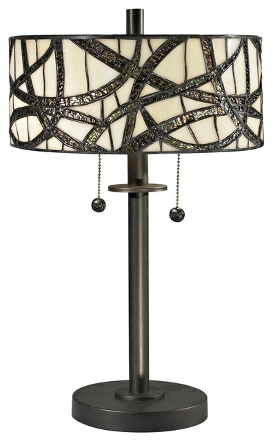 Dale Tiffany Willow Cottage Table Lamp, Dark Bronze