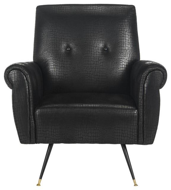 Strange Safavieh Mira Retro Mid Century Faux Leather Accent Chair Machost Co Dining Chair Design Ideas Machostcouk
