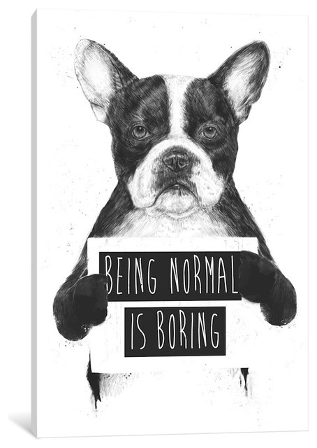 """being Normal Is Boring"" By Balazs Solti, 26x18x0.75""."