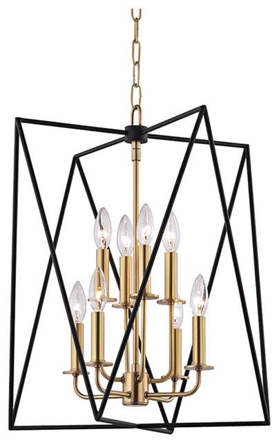 Laszlo 8-Light Pendants, Aged Brass.