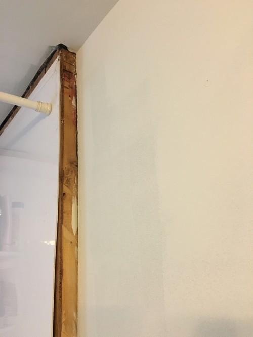 Gap between tub surround and drywall
