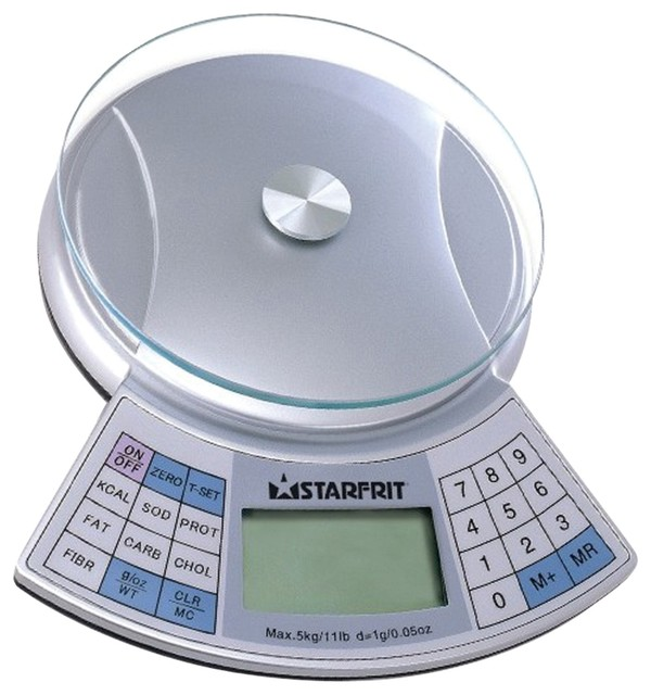 Starfrit 11 Pound Capacity Nutritional Scale Contemporary