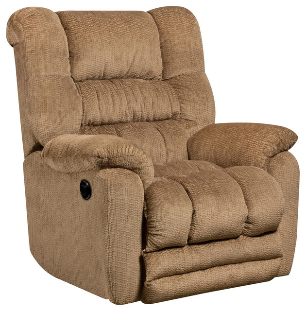 Flash Furniture Temptation Push Button Power Recliner, Fawn Beige  Transitional Recliner Chairs
