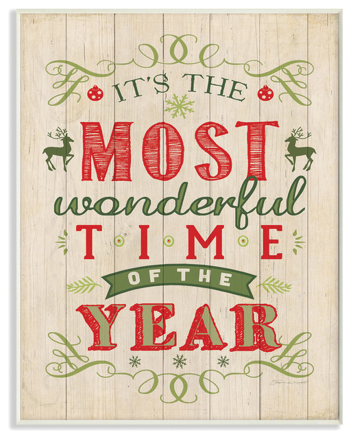 Quot It S The Most Wonderful Time Of The Year Quot Holiday Wall