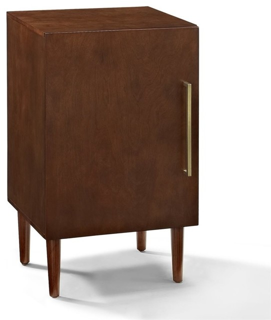 Crosley Furniture Everett Record Player Stand  Midcentury Entertainment Centers And Tv