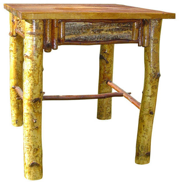 Birch Side Table Rustic Side Tables And End Tables