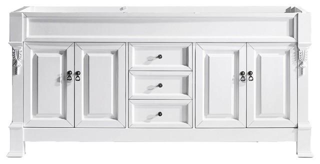 "Virtu Usa Huntshire 72"" Cabinet Only, White."