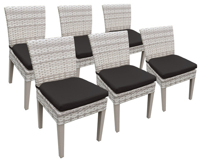 6 Fairmont Armless Dining Chairs Black