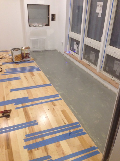 Hope this is helpful. - Gluing Down Prefinished SOLID Hardwood Floors Directly Over A Concrete