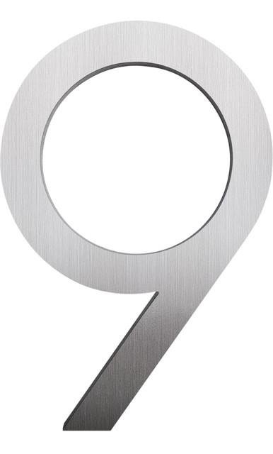 Modern Font House Number Brushed 8 Number 9 Modern House