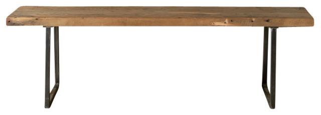 "Brooklyn Modern Rustic Reclaimed Wood Bench-Standard, 72"""