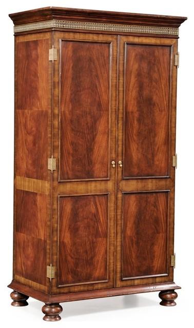 jonathan charles buckingham medium antique mahogany wardrobe armoire traditional armoires and wardrobes antique mahogany armoire