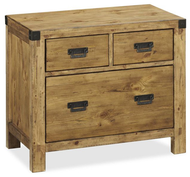 rustic wood file cabinet lateral file cabinet heirloom pine finish rustic 25777