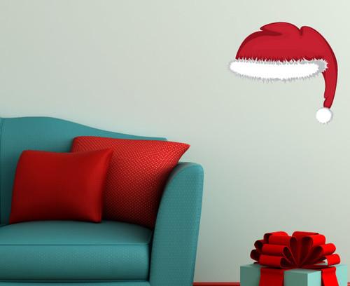 Christmas santa hat wall decal