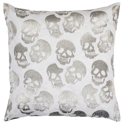 Skull Pillow Silver