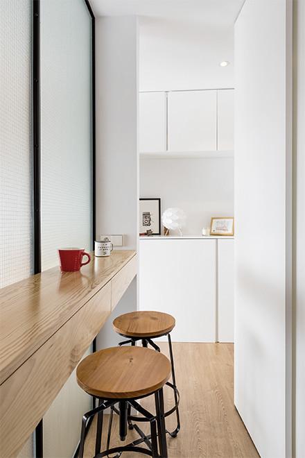 Vista desde la cocina hacia el hall