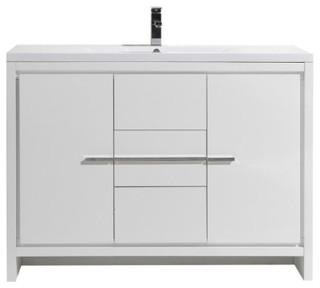 Mod 48 Free Standing Modern Bathroom Vanity Contemporary Bathroom Vanities And Sink