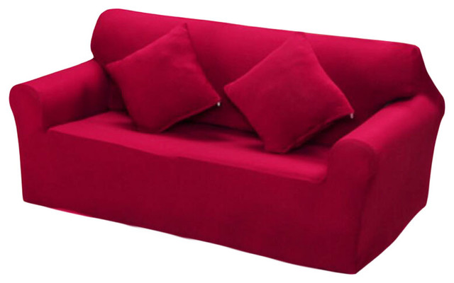Modern Sofa Cover Couch Throws Dustproof Cover, Double Sofa Red Slipcovers
