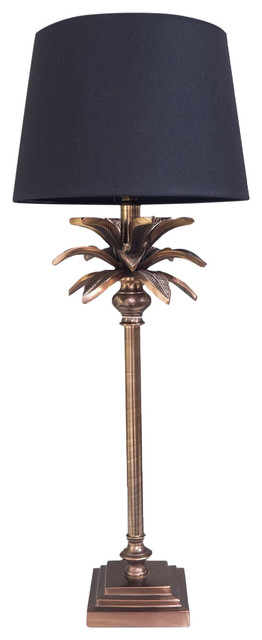 Palm Tree Table Lamp, Copper