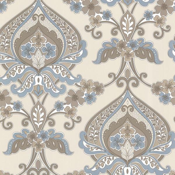 ashbury aqua paisley damask wallpaper bolt contemporary wallpaper - Contemporary Damask Wallpaper