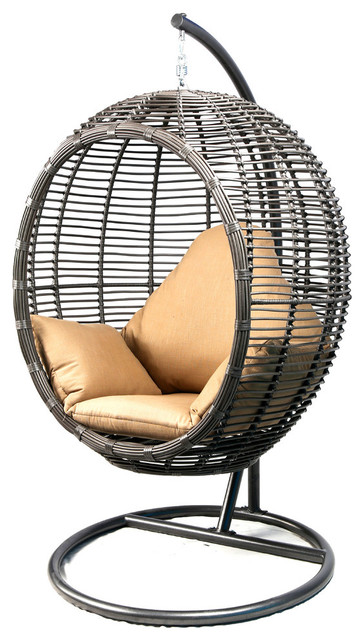BANER GARDEN Oval Egg Hanging Patio Lounge Chair