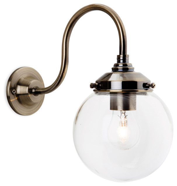 Victoria Retro Sphere Wall Light