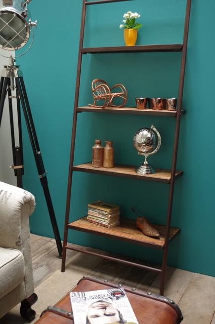Leaning Iron Bookshelf