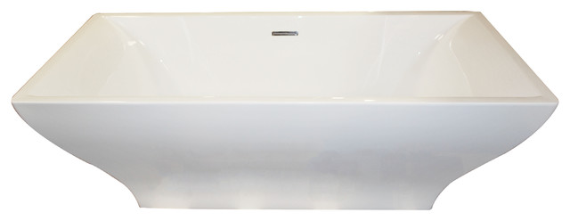 """Vision 70.4"""" One Piece Acrylic Freestanding Bathtub, Glossy White By Anzzi."""