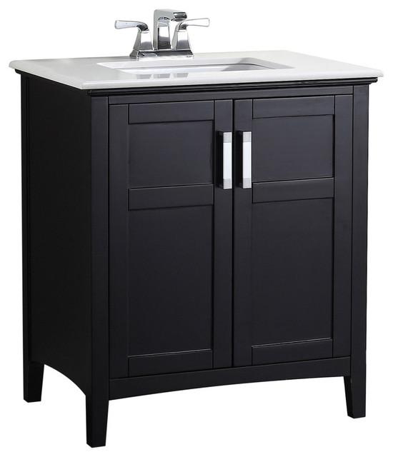 Morris Bathroom Vanity With White Marble Top, 25