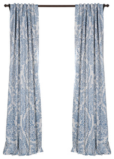Rosalleno Blackout Curtains Set Of 2 Blue